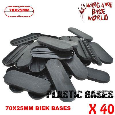 20pcs 70x25mm BIKE miniatures Bases Plastic basesTable Games Bits for wargames
