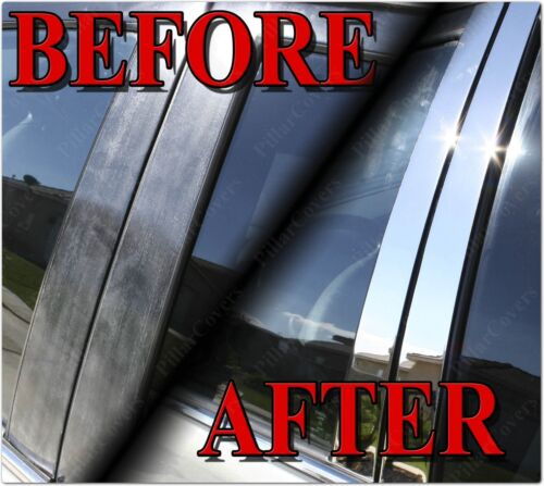 Chrome Pillar Posts for Alfa Romeo 166 98-04 6pc Set Door Trim Mirror Cover Kit