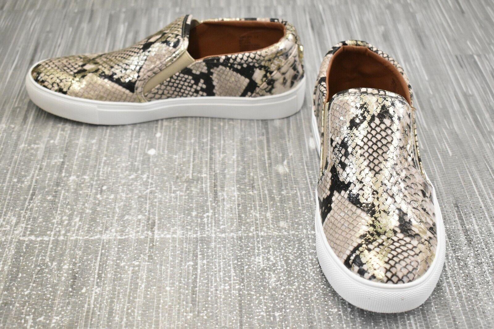 **Steve Madden Amplify AMPL02S1 Comfort Shoe - Women's Size 7.5, Gold Snake