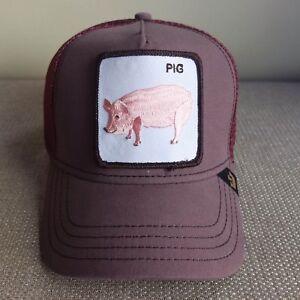 da939c81ca0d6b Goorin Snapback Trucker Baseball Hat Pig Boar Sow Gilt Piglet Swine ...