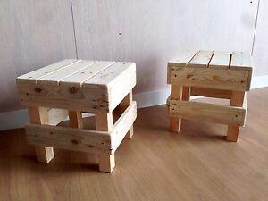 coppia n°2 sgabello puff pouf sedia in legno design panca per bar ... - Sedie Per Soggiorno Design 2