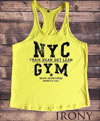 Indipendente Nyc Palestra Bodybuilding Gilet Motivazione Migliore Abbigliamento Allenamento Training Top New York-mostra Il Titolo Originale