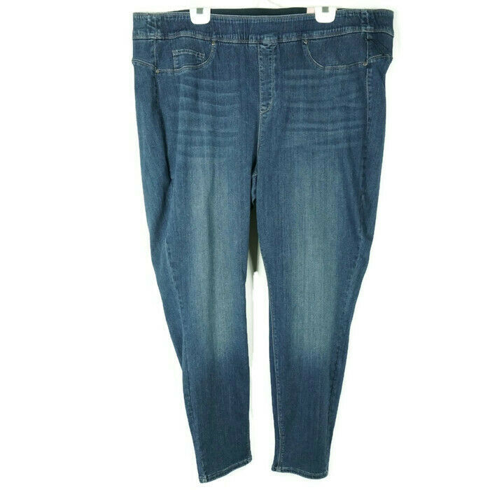 NYDJ Womens Jeans Size 26 Sculpt Curves 360 Pull On Legging Stretch bluee