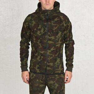 Details about MEN NIKE Tech Fleece Camo Windrunner Hoodie Jacket 694004 355