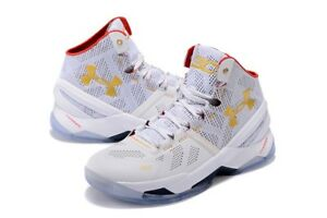UNDER ARMOUR UA CURRY 2 ALL STAR White Red Gold 1259007-102 ... 419aea731f4a