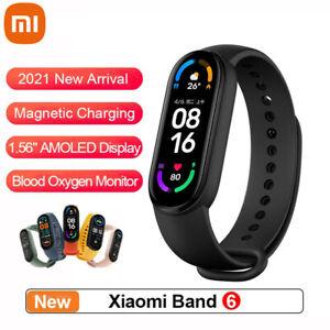 2021 New Xiaomi Mi Band 6 AMOLED Smart Watch 5ATM Waterproof Blood Oxygen