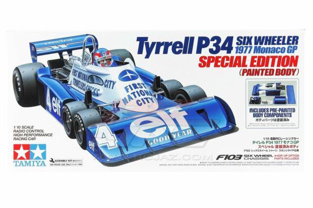 Tamiya 47392 1/10 RC F103 Chassis Tyrrell P34 Six Wheeler 1977 Painted Body Kit
