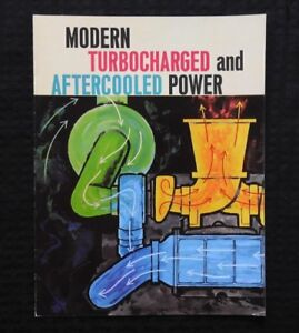 1960s-CATERPILLAR-034-1673-D398-TURBOCHARGED-AFTERCOOLED-DIESEL-ENGINE-034-BROCHURE-NM