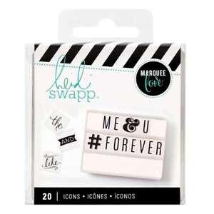 American Crafts Heidi Swapp Lightbox Icon Inserts Basics 20 Piece
