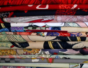 Vicky's Private Stash PRE-WASHED Asian Themed Fabric Pieces from Alexander Henry