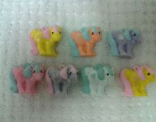 Vintage G1 Hasbro My Little Pony Lot of 7 Mommy Charms