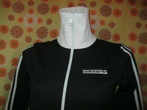 Détails sur Vintage Ancienne VESTE de SURVÊTEMENT ADIDAS NOIR BLANC T34 FEMME Jacket Jogging