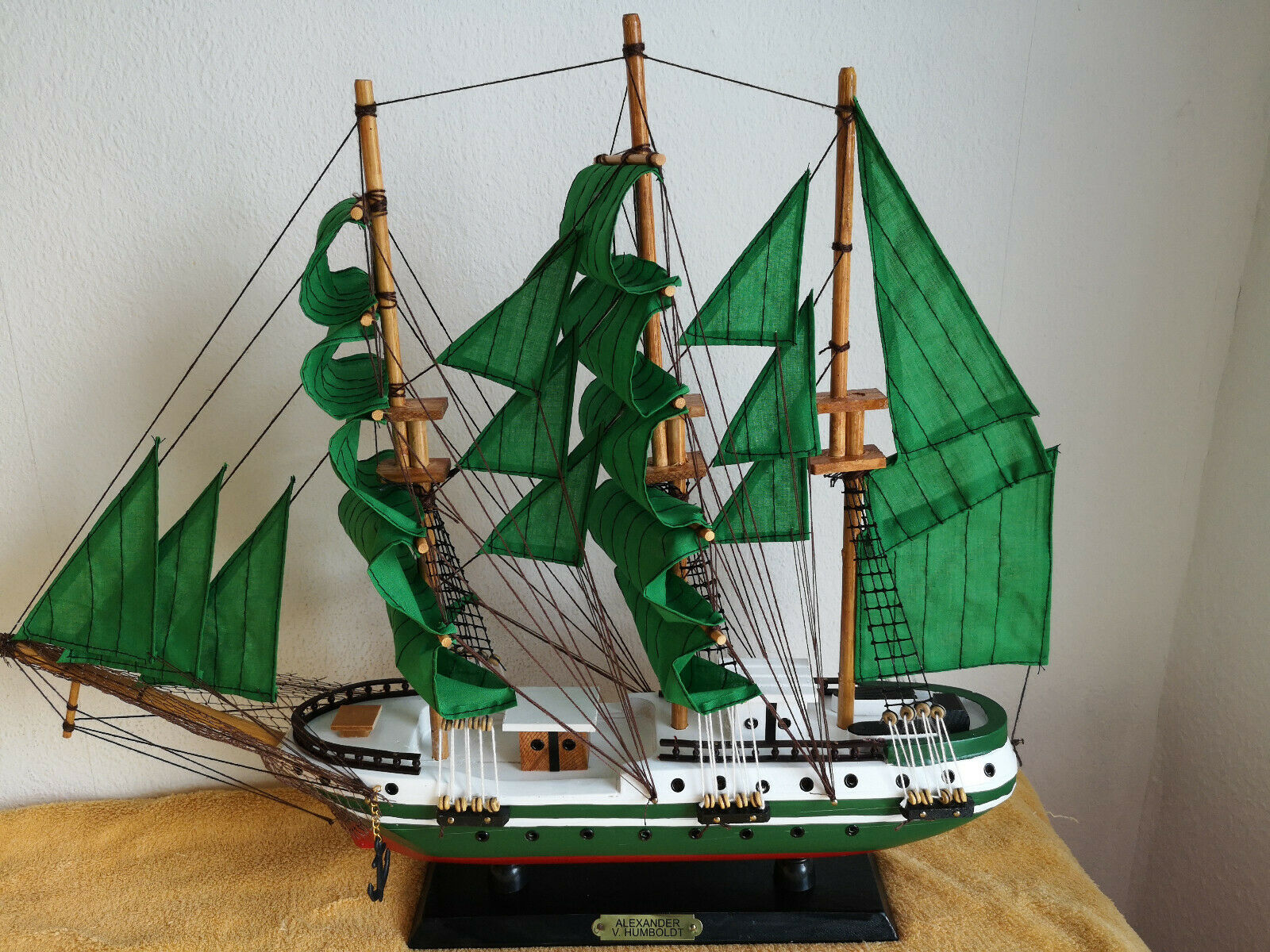 Ship Model, Sailing Ship, Alexander Von Humboldt, Wooden Model Model