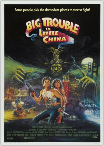 Big Trouble In Little China Classic Movie Poster Art Print A1 A2 A3 A4 Maxi