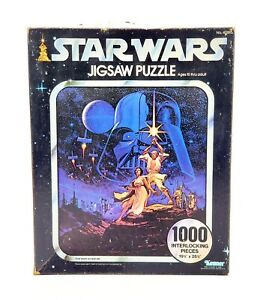 Vintage-Kenner-Star-Wars-1000-PC-Jigsaw-Puzzle-A-New-Hope-1977-MISSING-2-PIECES