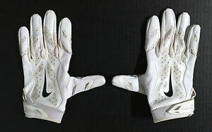 sports shoes 141d8 cf8d0 Details about New York Giants #13 ODELL BECKHAM JR Official NIKE Football  USED Gloves! PROOF!