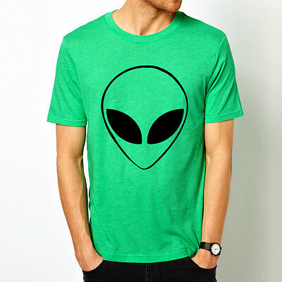 ALIEN HEAD UFO space geek gamer nerd 8 colors t-shirt
