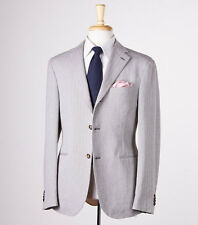 NWT $1495 RAFFAELE CARUSO Herringbone Cotton Sport Coat Trim 40 R Dual Vents