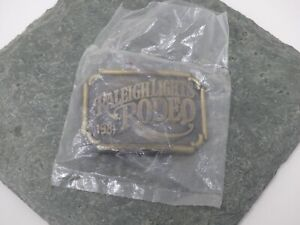 New-Old-Stock-Raleigh-Lights-Rodeo-Belt-Buckle-1981-RJ-Roberts
