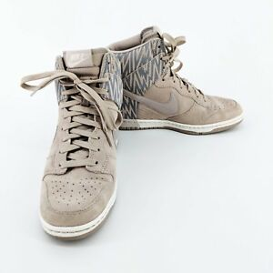 1b8012798629 Nike Dunk Sky Hi Women s Wedge Sneakers Shoes 543258-003 Orewood ...