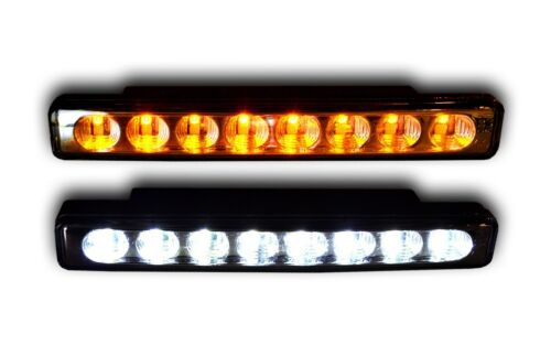 2 12V LED DRL DAY LIGHTS WITH SIGNAL INDICATORS E4 UNIVERSAL CAR VAN PICKUP BUS