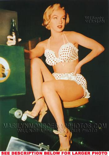 RARE 8x10 PHOTO MARILYN MONROE CokeBreak inSWIMSUIT 1