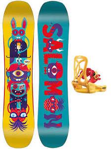 Détails sur Planche Enfant Snowboard salomon Équipe Package + Fixation Goodtimes XS 2020