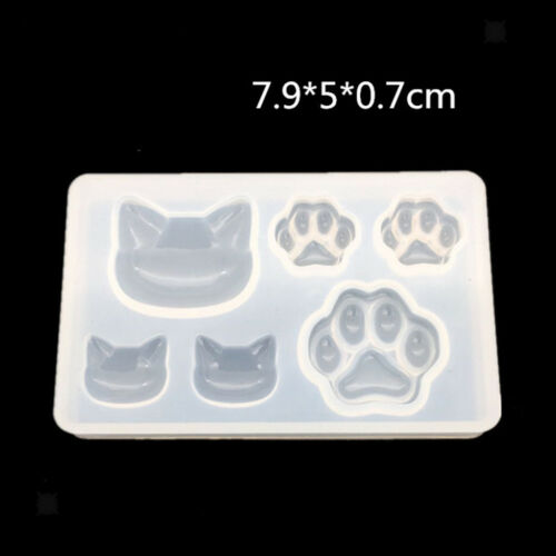 Cat Shape Design Silicone Mold Jewelry Pendant Earring Resin Casting Mould