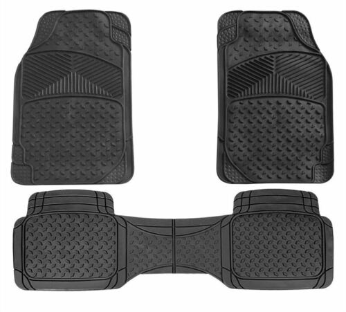Black UKB4C 3pc Full Set Heavy Duty Rubber Floor Mats Volvo XC90 V60 V90 XC40