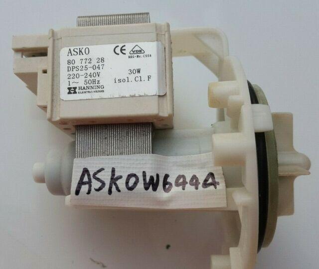 GENUINE ASKO WASHING MACHINE DRAIN PUMP MODEL W6444 PART No 440584 FREE SHIPPING