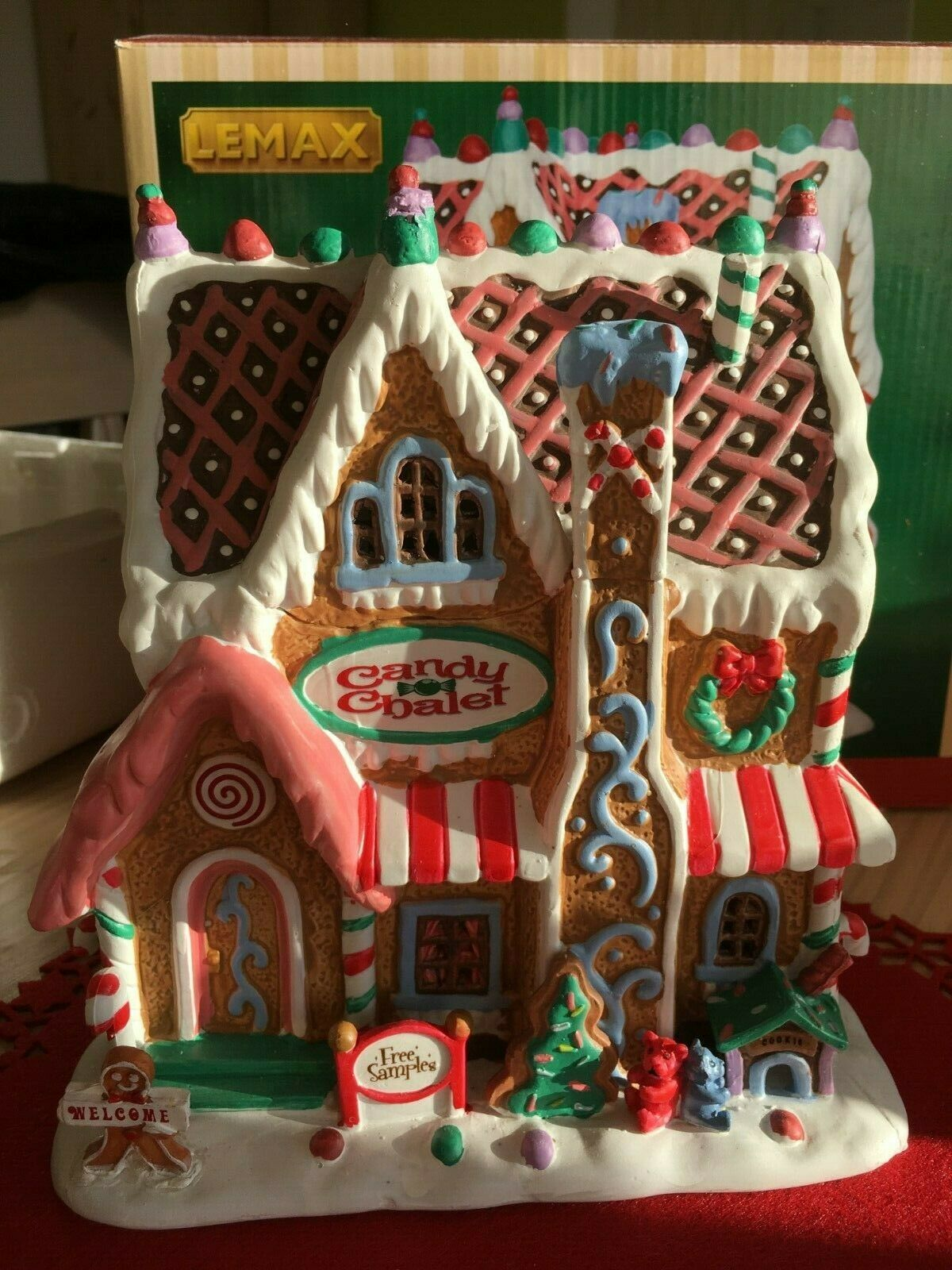 45771 45771 45771 Lemax Village Collection Candyhaus Candy Chalet Gingerbread House 9126e6
