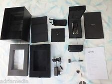 Vertu Constellation rhv-8 plata negro de cuero Black Leather como nuevo certificado
