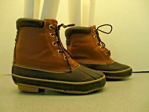 8cd5e617b56 Details about Magellan Brown Leather/Rubber Steel Shank Duck/Winter/Hiking  Boots Men's Size 5