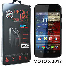 100% Genuine TEMPERED GLASS Screen Protector for Motorola Moto X 1st Gen XT1052