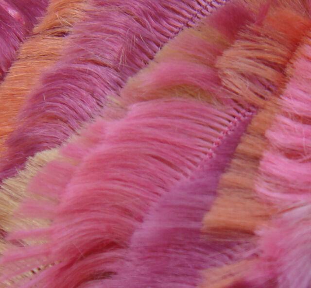 Sirdar BOA knitting / crochet yarn. 37 CORAL. 50g ball. SUPER SOFT EYELASH YARN.