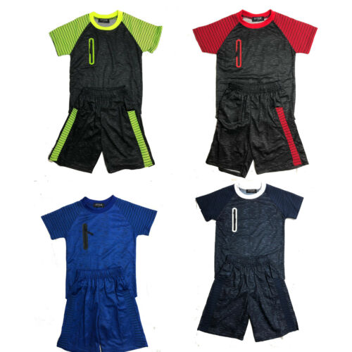 Boys Kids T-Shirt Short Set Pattern Fashion Summer Outfit Shorts