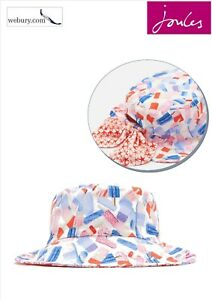 f853f74fb Details about Joules Mirabelle Lolly Ditsy Foldaway Girls Sun Hat - Size  4-7 years