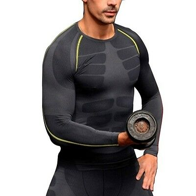 Men Compression Outdoor Sports Tight Shirts Fitness GYM Base Layer Tops M-XL Hot