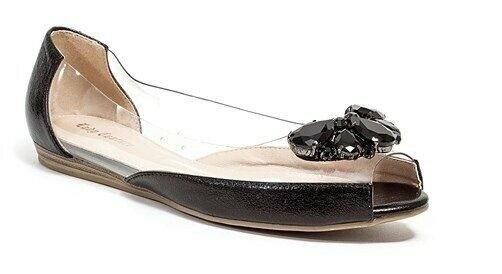 Lady Couture Women's Miami Slip On On On Rhinestone Crystal Flat shoes Black 483e3a