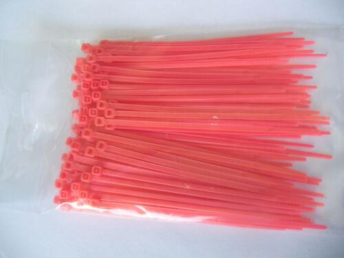 Serre-câbles 4,8x290 mm en rose 100 pièces