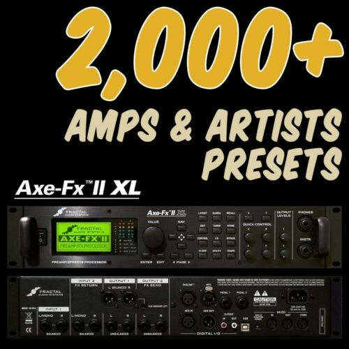 patches /& 300 Cabs ✪ Fractal AXE FX 2 XL PRESETS ✪ Platinum Collection 2,000