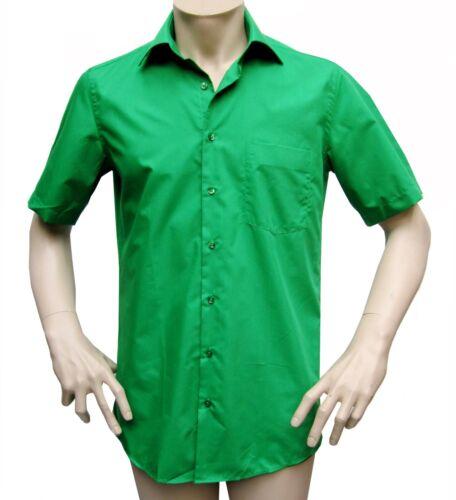 6xl corta verde Camicia uomo taglia scuro manica qx67T