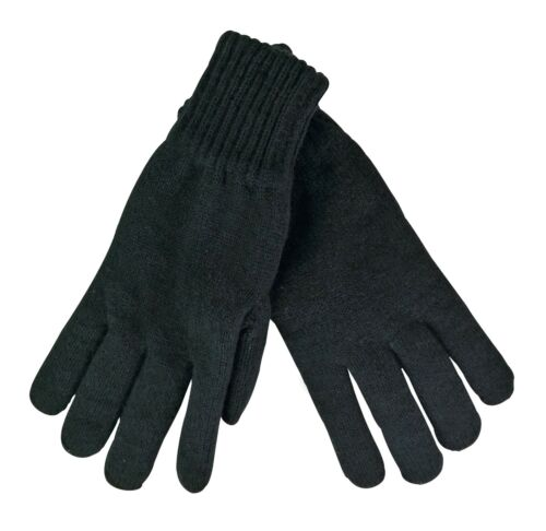 Thinsulate Herren winter warm gestrickt schwarz thermo handschuhe 3 größen