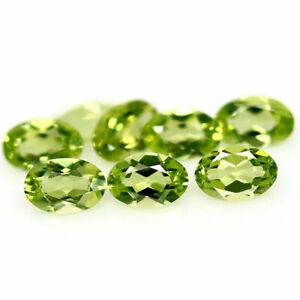 3.61 Carats NATURAL 8pcs Green PERIDOT Loose Pakistan for Jewelry Setting Oval