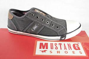 Mustang-Hombre-Lino-Mocasines-gris-Suela-de-goma-4058-NUEVO