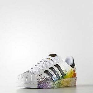 ADIDAS ORIGINALS MENS SUPERSTAR PRIDE PACK SHOES SIZE 5 US D70351