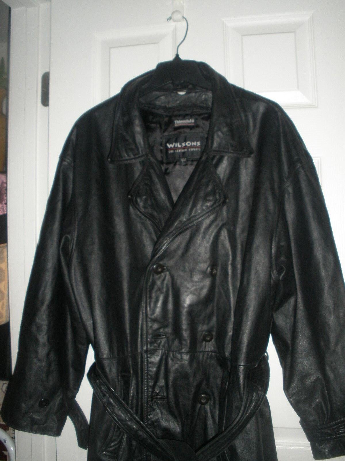 Wilsons The Leder Experts  Herren Leder Long Winter Coat Thinsulateliner Größe L
