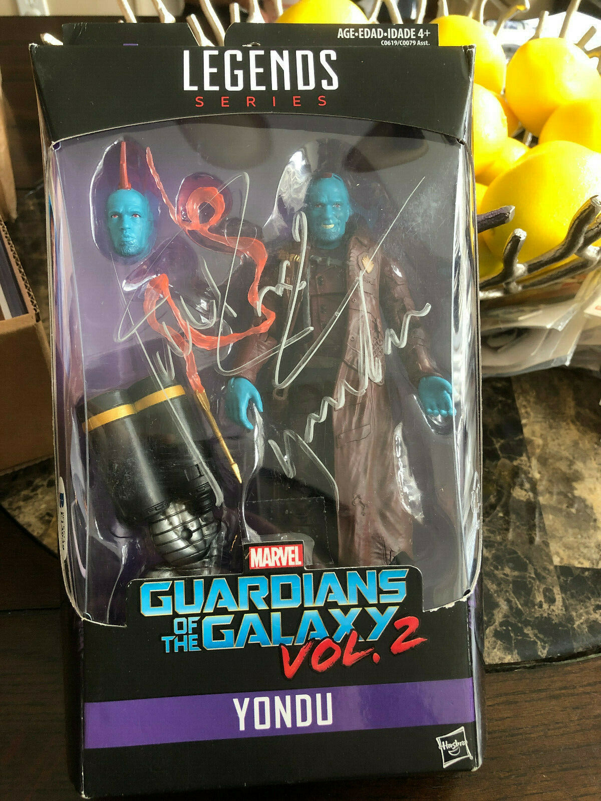 Marvel Legends Yondu Guardianes de la Galaxia vol. 2 Nuevo Hasbro 2016 Rooker Auto