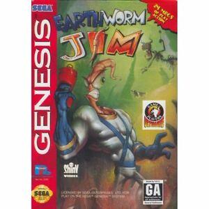 Earthworm-Jim-Sega-Genesis-Game-CLEAN-VG