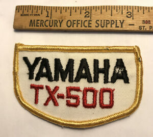 VINTAGE YAMAHA MOTORCYCLE EMBROIDERED PATCH